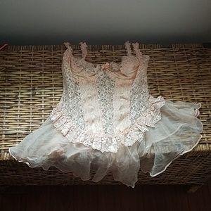 Lingerie lacy slip dress